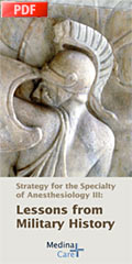 Strategy for anesthesiologists (program pdf)
