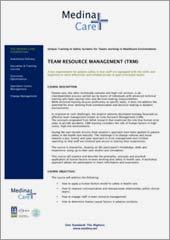 TEAM RESOURCE MANAGEMENT (TRM)